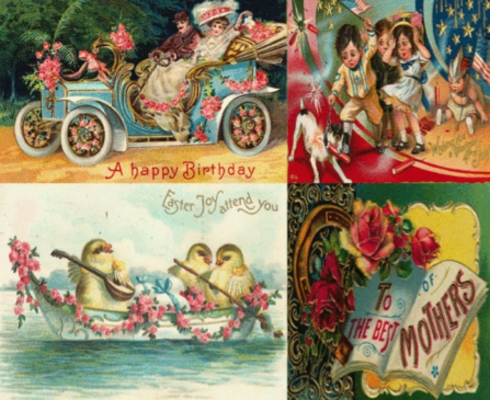 Pay for ANTIQUE HOLIDAY POSTCARDS HUGE IMAGES COLLECTION