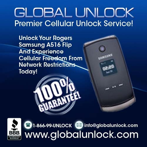 Pay for Unlock Rogers Samsung a516 by Code