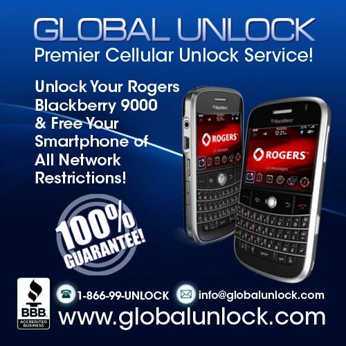 Pay for How To Unlock Rogers Blackberry 9000 BOLD Instructions