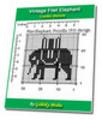 Thumbnail Vintage Filet Elephant Crochet Pattern Ebook