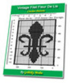 Thumbnail Vintage Filet Fleur De Lis Crochet Pattern Ebook