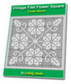 Thumbnail Vintage Filet Flower Square Crochet Pattern Ebook