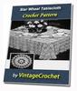 Thumbnail Star Wheel Tablecloth Vintage Crochet pattern eBook (PDF)