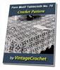 Thumbnail Fern Motif Tablecloth Vintage Crochet pattern eBook (PDF)
