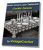 Thumbnail Queen Annes Lace Tablecloth Vintage Crochet pattern eBook