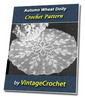 Thumbnail Autumn Wheat Doily Vintage Crochet Pattern Ebook