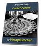 Thumbnail Brocade Doily Vintage Crochet Pattern Ebook