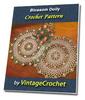 Thumbnail Blossom Doily Vintage Crochet Pattern Ebook