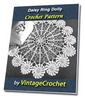 Thumbnail Daisy Ring Doily Vintage Crochet Pattern