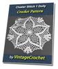 Thumbnail Cluster Stich 1 Doily Vintage Crochet Pattern Ebook