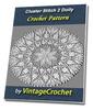Thumbnail Cluster Stich 2 Doily Vintage Crochet Pattern Ebook