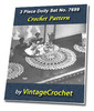 Thumbnail 3 Piece Doily Set No.7699 Vintage Crochet Pattern Ebook