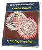 Thumbnail Cathedral Window Doily Vintage Crochet Pattern Ebook