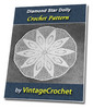 Thumbnail Diamond Star Doily Vintage Crochet Pattern Ebook