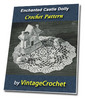 Thumbnail Enchanted Castle Doily Vintage Crochet Pattern Ebook