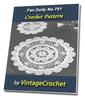 Thumbnail Fan Doily No.751 Vintage Crochet Pattern Ebook