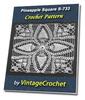 Thumbnail Pineapple Square S-733 Vintage Crochet Pattern eBook