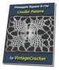 Thumbnail Pineapple Square S-734 Vintage Crochet Pattern eBook