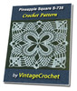 Thumbnail Pineapple Square S-735 Vintage Crochet Pattern eBook