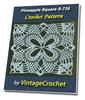 Thumbnail Pineapple Square S-735 Vintage Crochet Pattern eBook