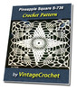 Thumbnail Pineapple Square S-736 Vintage Crochet Pattern eBook
