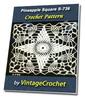 Thumbnail Pineapple Square S-736 Vintage Crochet Pattern eBook