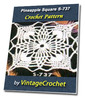 Thumbnail Pineapple Square S-737 Vintage Crochet Pattern eBook