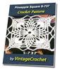 Thumbnail Pineapple Square S-737 Vintage Crochet Pattern eBook