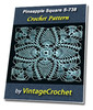 Thumbnail Pineapple Square S-738 Vintage Crochet Pattern eBook