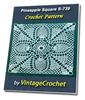 Thumbnail Pineapple Square S-739 Vintage Crochet Pattern eBook