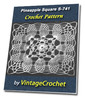 Thumbnail Pineapple Square S-741 Vintage Crochet Pattern eBook