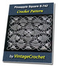 Thumbnail Pineapple Square S-742 Vintage Crochet Pattern eBook