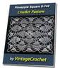 Thumbnail Pineapple Square S-742 Vintage Crochet Pattern eBook