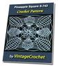 Thumbnail Pineapple Square S-743 Vintage Crochet Pattern eBook