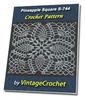 Thumbnail Pineapple Square S-744 Vintage Crochet Pattern eBook