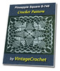 Thumbnail Pineapple Square S-745 Vintage Crochet Pattern eBook
