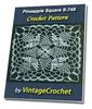 Thumbnail Pineapple Square S-745 Vintage Crochet Pattern eBook