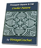 Thumbnail Pineapple Square S-746 Vintage Crochet Pattern eBook