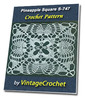 Thumbnail Pineapple Square S-747 Vintage Crochet Pattern eBook