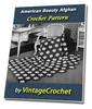 Thumbnail American Beauty Afghan Vintage Crochet Pattern eBook
