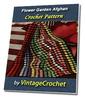 Thumbnail FLower Garden Afghan Vintage Crochet Pattern