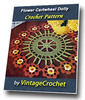 Thumbnail Flower Cartwheel Doily Vintage Crochet Pattern