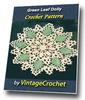 Thumbnail Green Leaf Doily Vintage Crochet Pattern