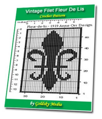 Vintage Filet Fleur De Lis Crochet Pattern Ebook Download Ebooks