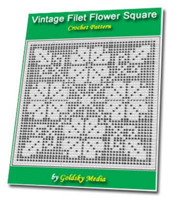 Vintage Filet Flower Square Crochet Pattern Ebook Download Ebooks