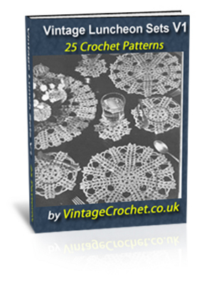 Pay for Vintage Luncheon Sets Crochet Patterns eBook Volume 1