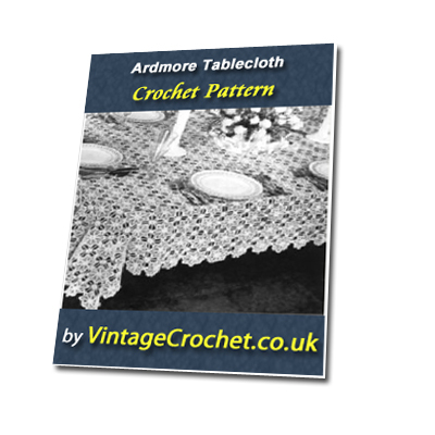 Pay for Ardmore Decorative Tablecloth Vintage Crochet Pattern eBook