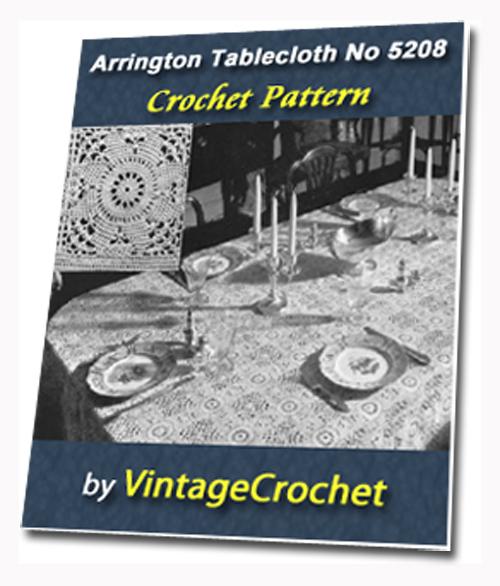 Pay for Arrington Tablecloth Vintage Crochet pattern eBook (PDF)
