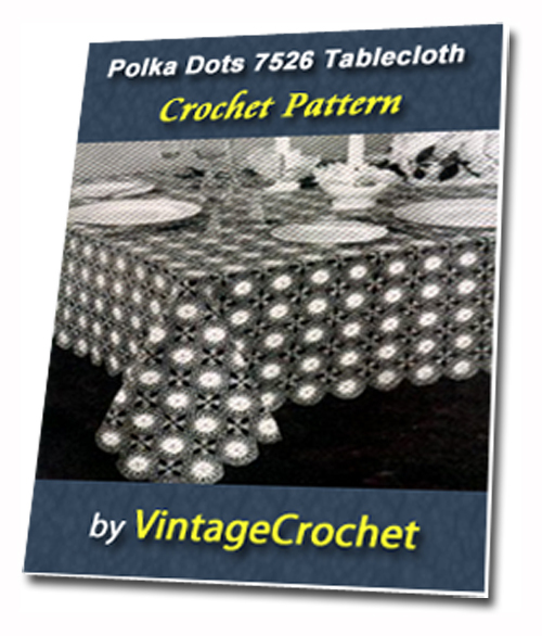 Pay for Polka Dots Tablecloth Vintage Crochet pattern eBook (PDF)