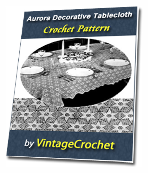 Aurora Tablecloth Vintage Crochet Pattern Ebook Pdf Download Eb